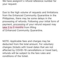 フィリピン航空返金 その2 受付メールきたよ!