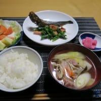 鰯とソーセージとポパイ、炊屋食堂の質素倹約一汁三菜晩飯・・・昭和の味、