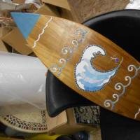 サーフィンの目地入れとアオリイカのモザイク