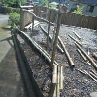 大人の工作 竹垣・花壇造り