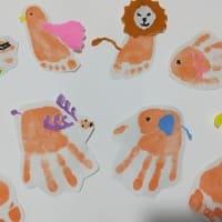 手形アートの工作