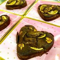 バレンタインハートチョコパン&ブラウニー
