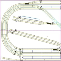 鉄道模型の路線の敷設計画図を作成した(図に1つ設計ミスあるよ)