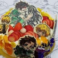 ★鬼滅の刃で誕生日ケーキ☆