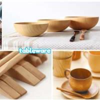 この4つの材料のうち、どの材料でお椀やお箸を作りますか? ぜひ見に来てください!