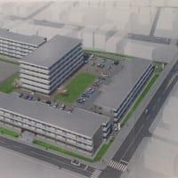 大川中学校跡地に市営住宅大川団地が。