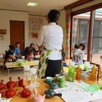 7月18日 とらのこ保育園の子育て支援で、ママの日本茶教室