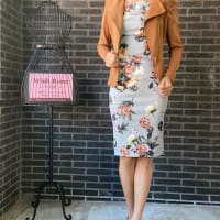 秋のファッションに!インポートワンピースとロングカーディガンや室内スカーフの新作コーデ