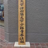 一橋大学・津田塾大学少林寺拳法部の木彫看板