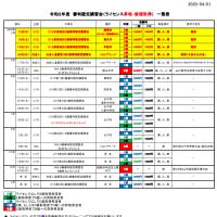 〔お知らせ〕2020審判講習会・研修会計画表(4/1版)