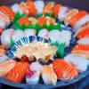 寿司盛り ~サーモン好き男に食べてもらう4人前~