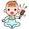 「赤ちゃんの遊び1」(赤ちゃん/人物)