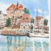 水辺の街並