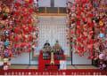 2013年 鴨川市観音寺のつるし雛と畠山勇子の雛人形
