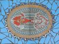金魚のモザイクアート