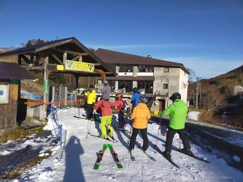 湯 熊 場 の スキー