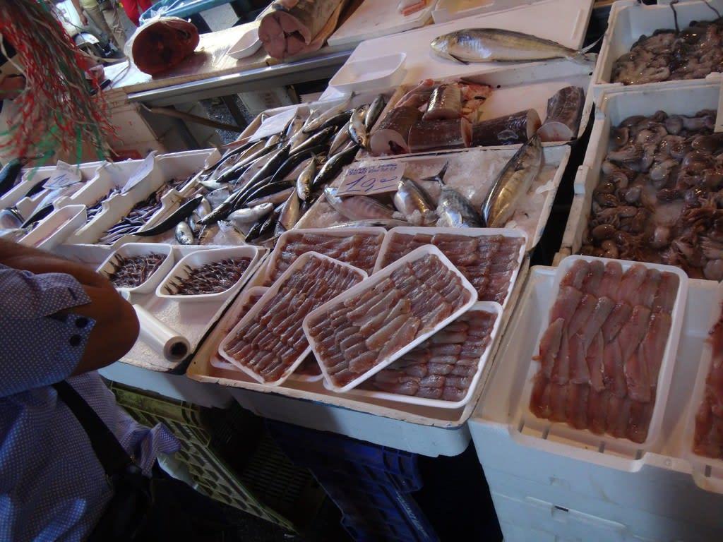 トッレデルグレコの鮮魚店