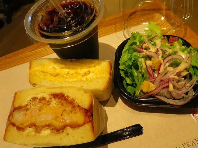 ランチセット(エビカツサンド+玉子サンド)