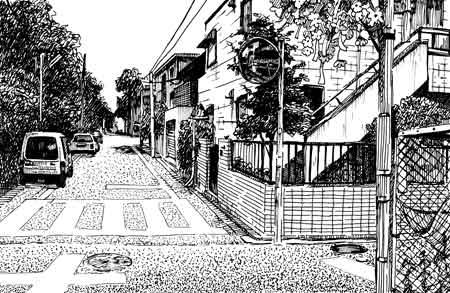 ペン画の風景画3