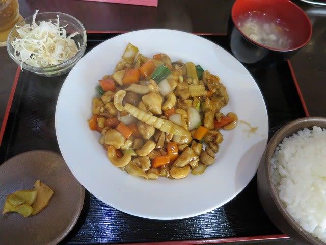 鶏肉とカシューナッツ炒め定食