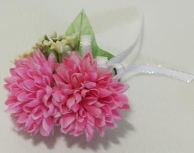 アートフラワー(造花)卒園 卒業コサージュ ピンク色