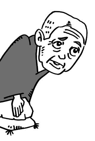 桂文治の似顔絵