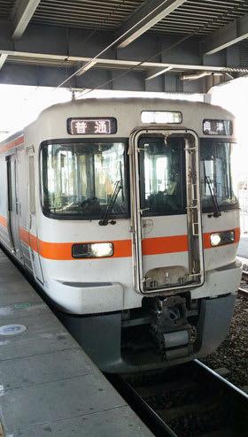 313系で運行するJR東海の興津行普通電車