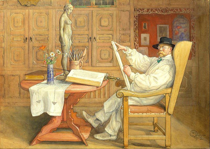 Self Portrait (In the new studio 1912)