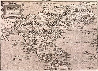 ガスタルディの北アメリカ図 - ...