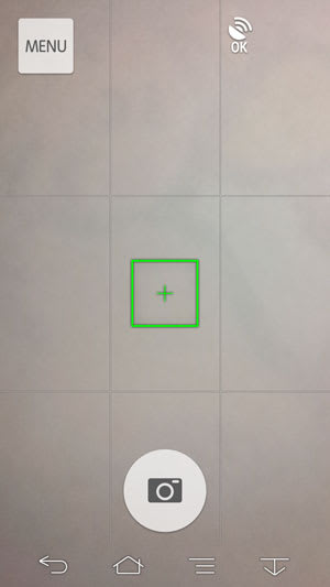 ARROWS NXのシンプルな撮影画面