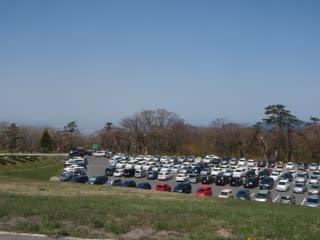 駐車場(第1・4は既に満車)