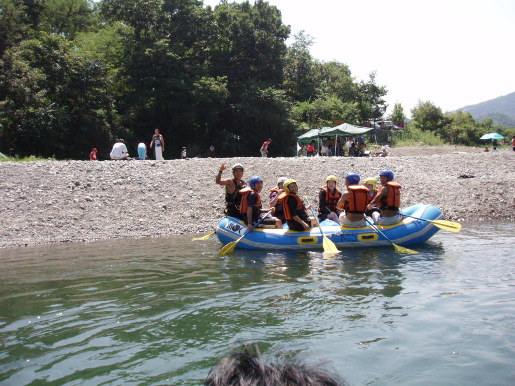 ボート遊びの若者達