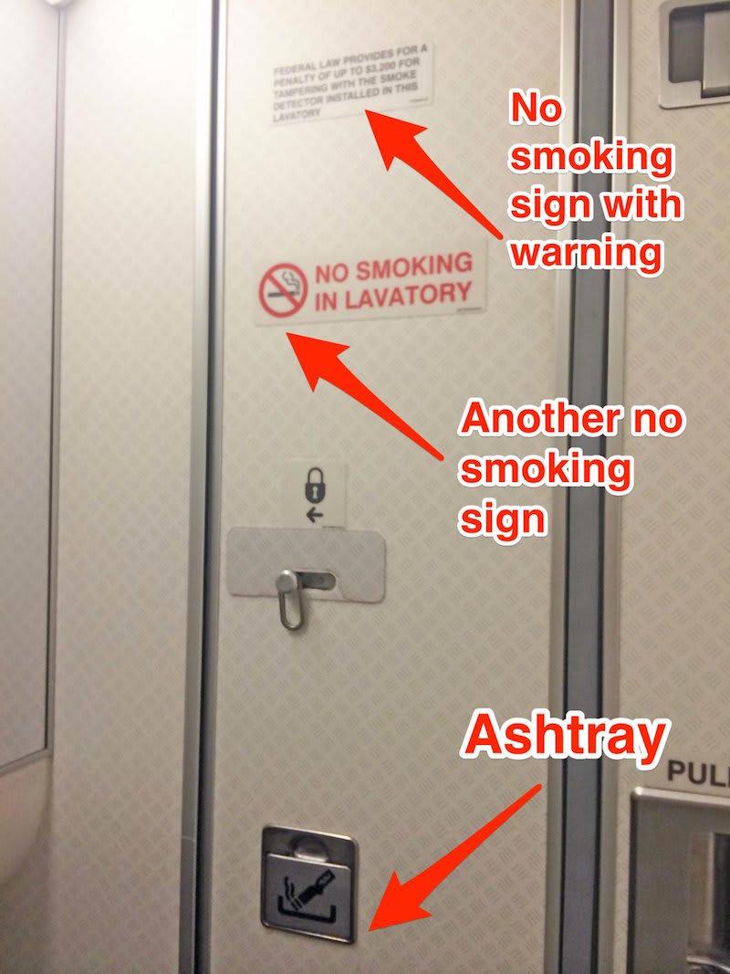 飛行機のトイレにある灰皿は、そこで喫煙できると言う意味ではない。 世界メディア・ニュースとモバイル・マネー