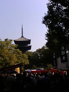今日は東寺の弘法さん