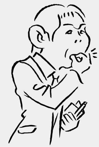 森保一監督の似顔絵イラスト画像