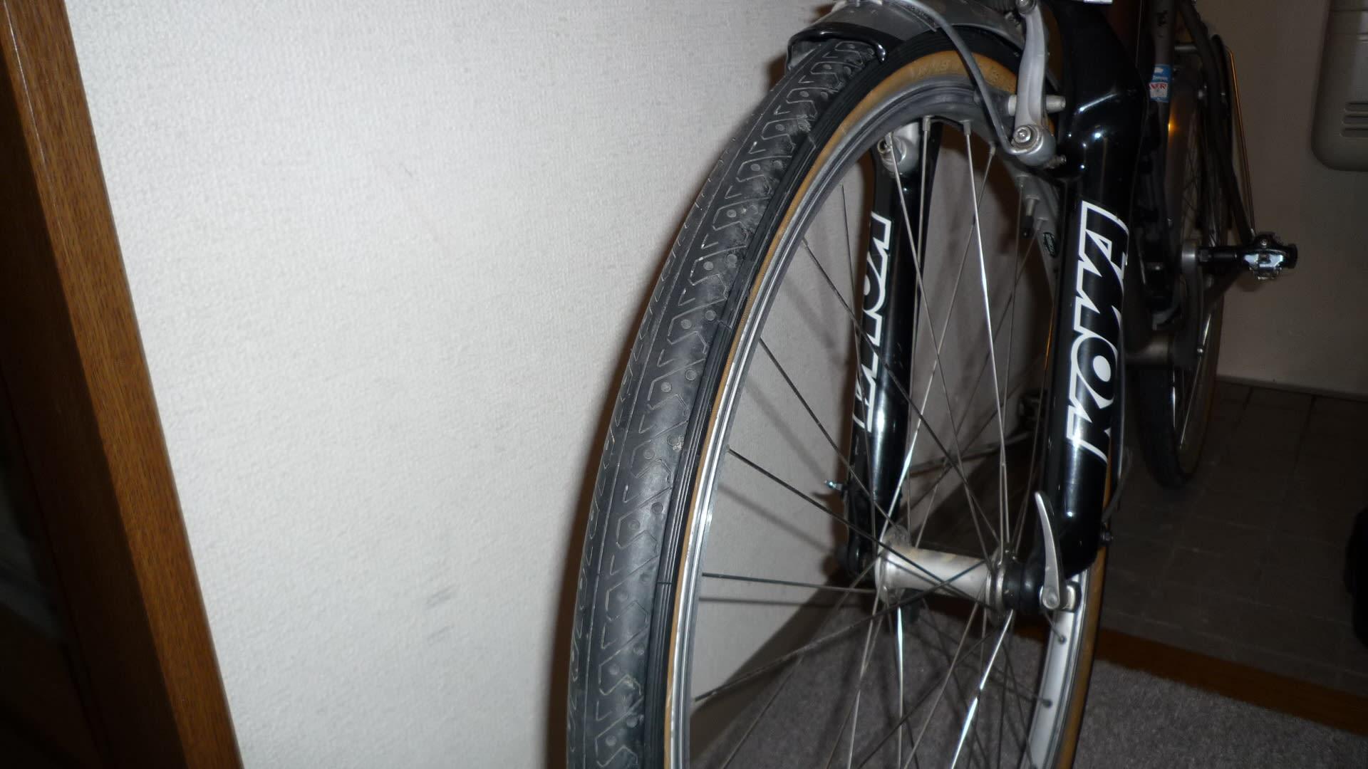 変体自転車1号タイヤ交換 - ある...