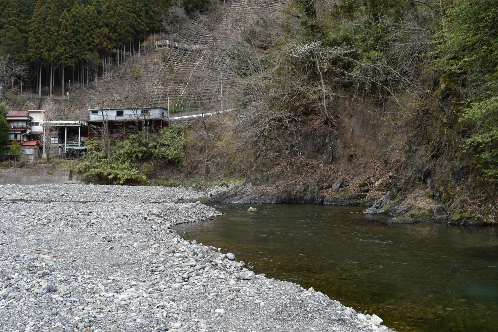 山梨県丹波山村丹波川へ釣り - 漢方相談 昌栄薬品