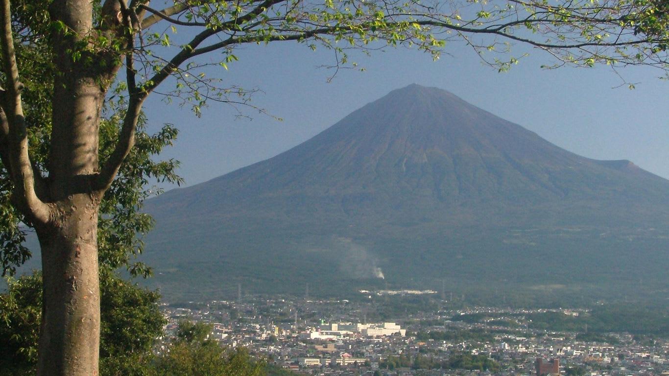 十月の富士山 白尾山公園 パソコンときめき応援団 壁紙写真館