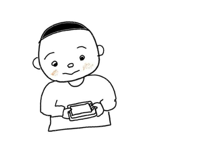 16課 て から 18課 まえに スーザンの 日本語教育 手描きイラスト