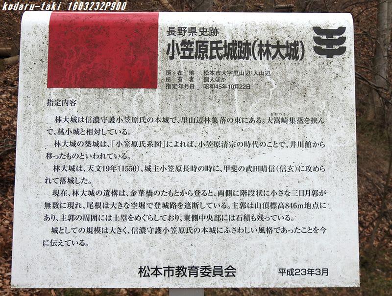 松本市 小笠原氏城跡 林大城と野...