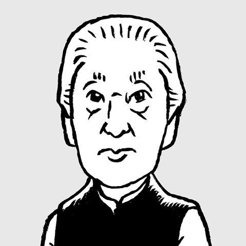 <br> 磯崎新似顔絵イラスト画像