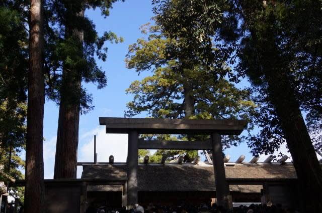伊勢神宮「内宮」に初詣行ってきました〜(^^)   2018