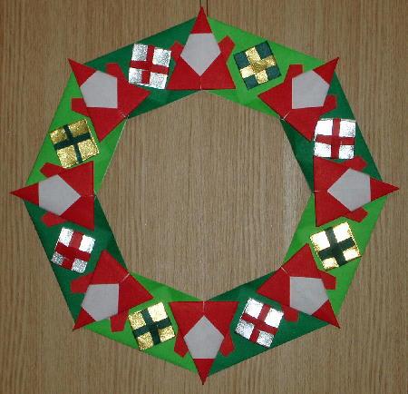 クリスマス 折り紙 折り紙 クリスマスリース : blog.goo.ne.jp