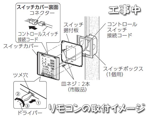V-141Zのリモコン取付イメージ