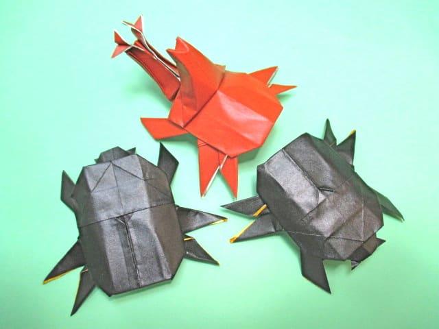 クリスマス 折り紙 折り紙 カブトムシ : blog.goo.ne.jp