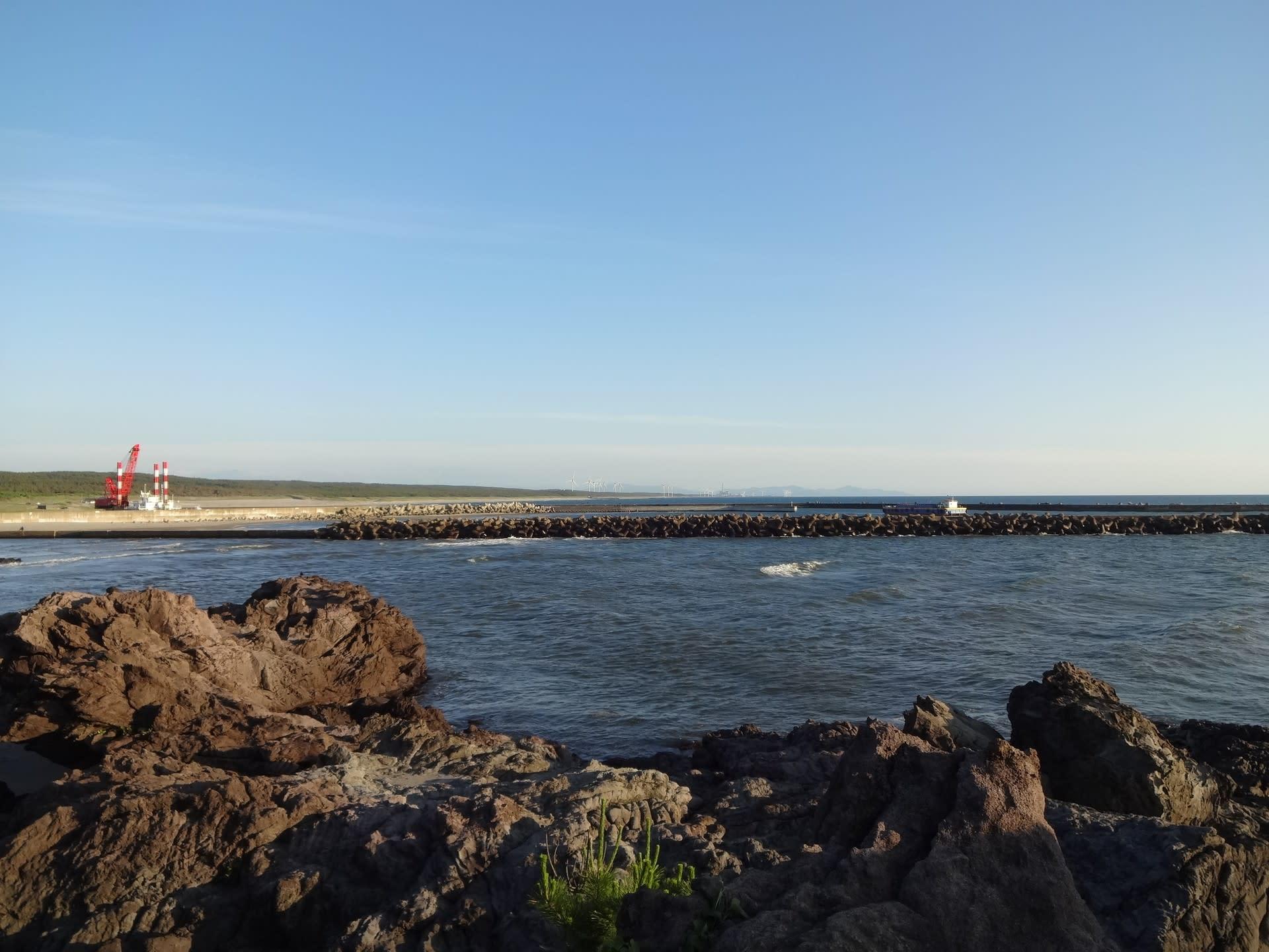遊佐沖に洋上風力発電