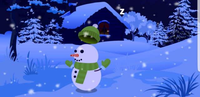 踊りまくる雪だるま