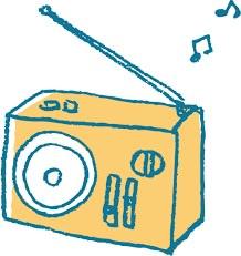 ラジオのイラスト ドラム缶王ライフ 断捨離の一環で2019年2月より