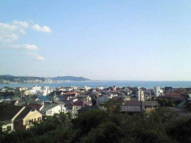 長谷寺から見た海