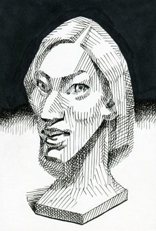 北川景子似顔絵イラスト画像